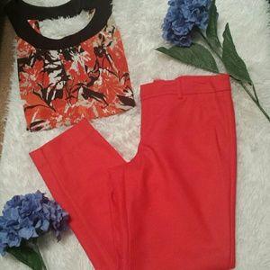 Merona Tangerine Ankle Pants sz 4